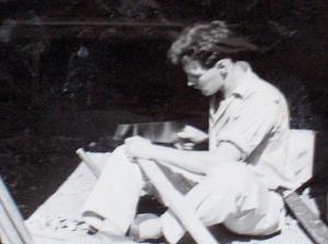Karachi 1956 - working as carpenter