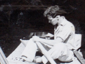 Karachi 1956 - working as carpenter